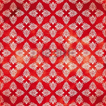 Damask red damaged denim pattern