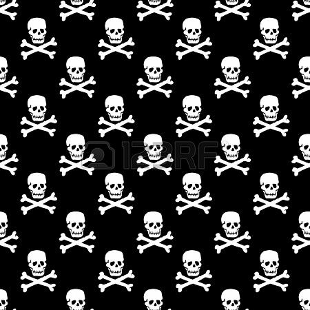 vector skull pattern