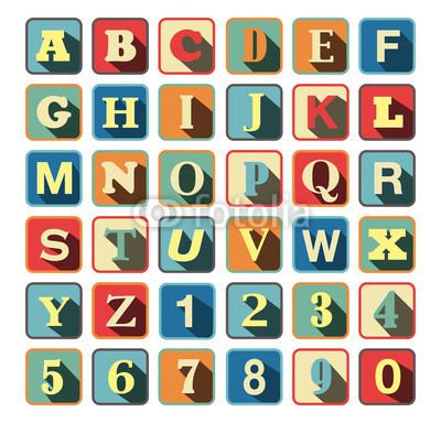 RETRO ABC BLOCKS
