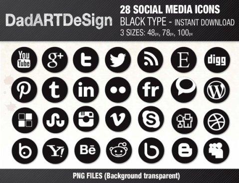 28 socialmedia icons