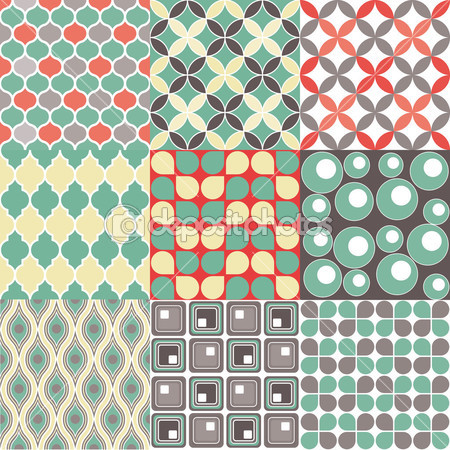 Retro Pattern - Seamless vectorial — Stock Vector © dadartdesign #38626217
