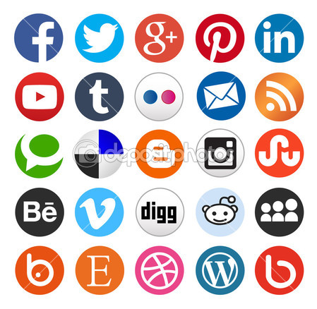 Simple social media icon — Stock Vector © dadartdesign #38660027