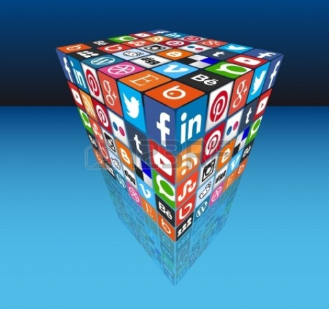 Social Media Cube 3D - Most Popular Share Icons In Perspective Royalty Free Stock Photo, Pictures, Images And Stock Photography. Image 25454478.