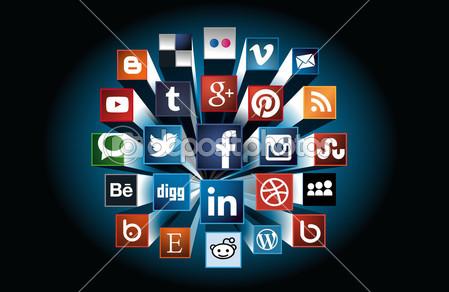 Social Media concept 3d composition — Stock Vector © Marco Spadoni #45753963