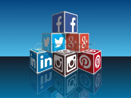 Social Media Concept Cubes - Most Popular Social Icons In Perpspective.. Stock Photo, Picture And Royalty Free Image. Pic 25454483.