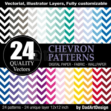 24 chevron vector patterns