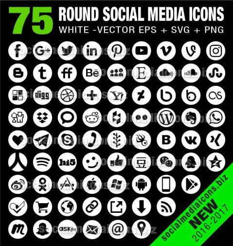 72 round vector icons